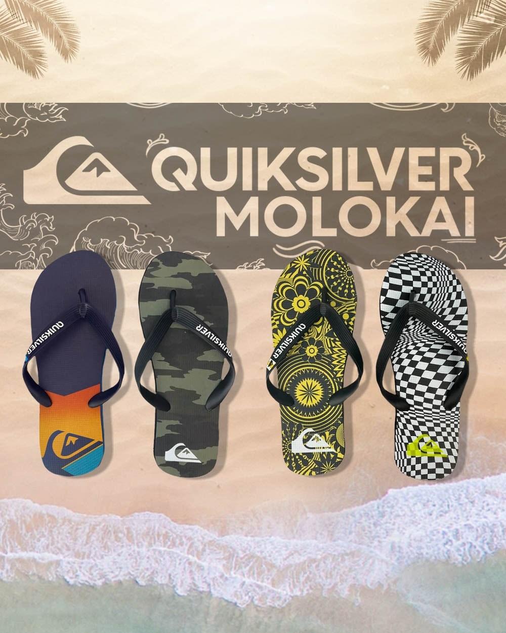 Chinelos Quiksilver Molokai Mobile