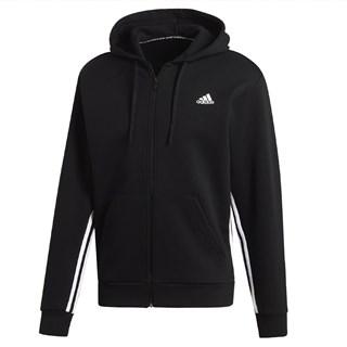 Agasalho Adidas Must Haves 3 listras Preto e Branco