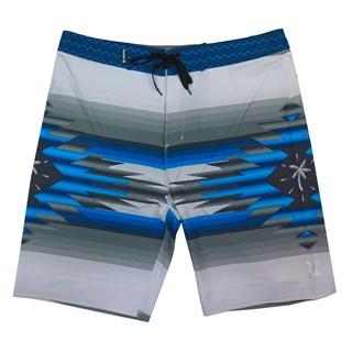 "Bermuda Água Hurley Phantom Pendleton 20"" Cinza Azul"