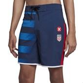 """Bermuda Água Hurley Phantom Seleção Estados Unidos 18"""" Azul"""