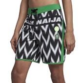 """Bermuda Água Hurley Phantom Seleção Nigéria 18"""" Preto Verde"""