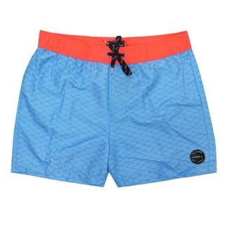 Bermuda Água Oneill Shorts Volley Azul e Laranja