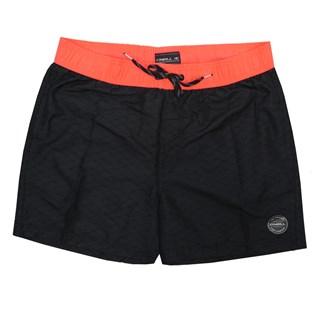 Bermuda Água Oneill Shorts Volley Preto e Laranja