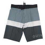 Bermuda Agua Quiksilver Every Day Blocked Cinza