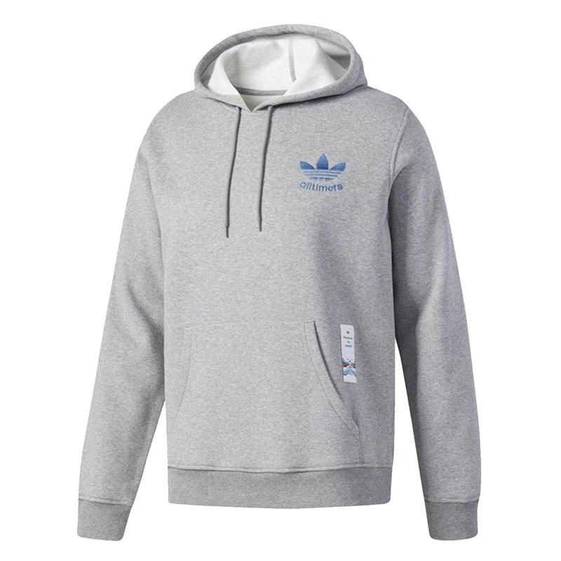 Blusa de Moletom Adidas AllTimers Cinza - BackWash 5317ee7476d56