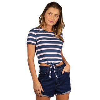 Blusa Feminina Rip Curl Summer Stripe Azul e Rosa
