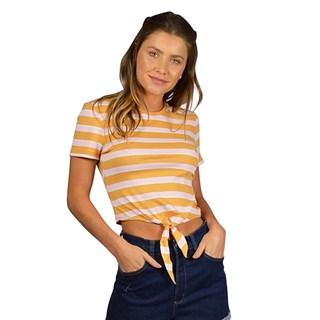 Blusa Feminina Rip Curl Summer Stripe Laranja e Rosa