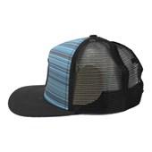 Boné Hurley Aba reta/Snapback Nike Dri-Fit Hydrofuge Preto Azul