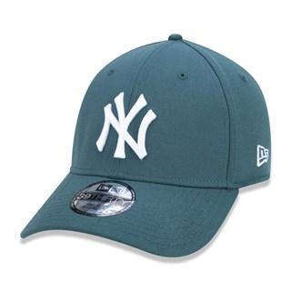Boné New Era Aba Torta 39Thirty NY Yankees Azul Esverdeado