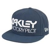 Boné Oakley Factory Aba Reta Novelty Azul