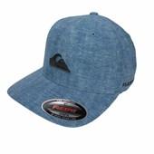 87f264e0817db Boné Quiksilver de Aba Torta Flexfit Solid Preto e Azul - Back Wash