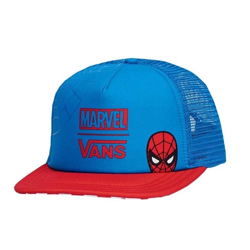 Boné Vans Aba Reta Marvel Homem Aranha Azul - Back Wash bcdd3289c90