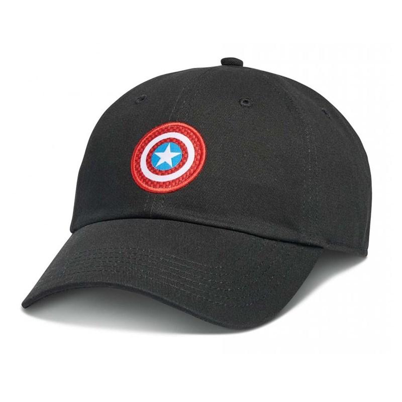 Boné Vans Aba Torta Marvel Capitão América Preto - Back Wash d190d5da002