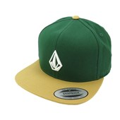 Boné Volcom Stoned Dark Green/Curry