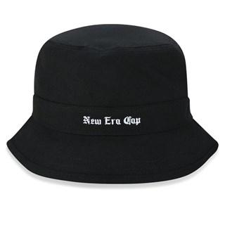 Bucket New Era Black Squad Cap Preto
