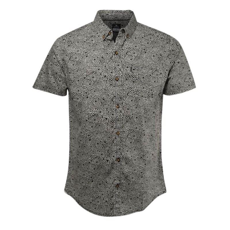 Camisa Masculina Rip Curl Dab Preta - Back Wash 902fc15e8c