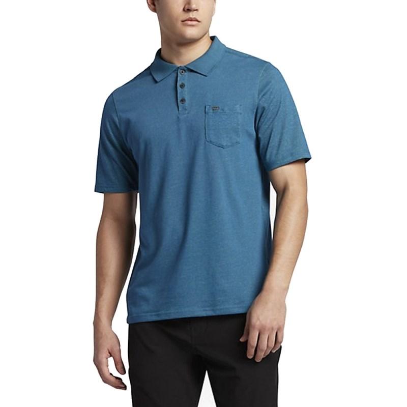 Camisa Polo Hurley Nike Dri-Fit Lagos Azul - Back Wash 730adde5ea