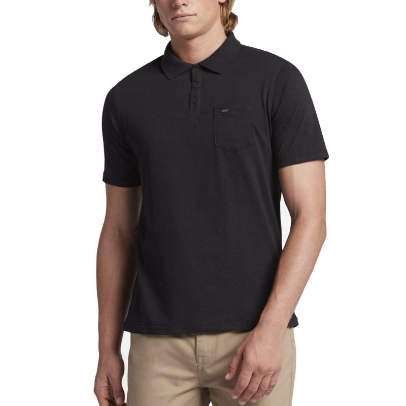Compre Camisa Polo Hurley Nike Dri-Fit Lagos Preta na Back Wash! 4aee838916