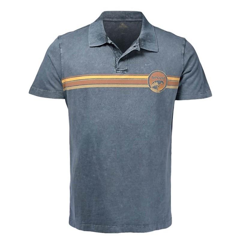 Camisa Polo Rip Curl Azul CPL0054 - Compre na Back Wash! 2308094a9f