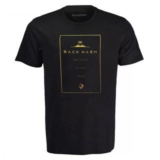 Camiseta Back Wash Uniting Preta e Bege