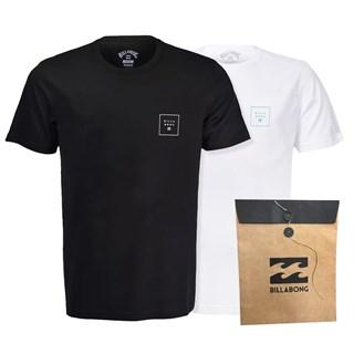 Camiseta Billabong Stacked Kit com 2
