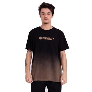 Camiseta Element Fire Degradê Preto e Marrom