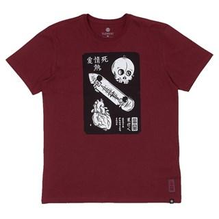 Camiseta Element Love Passion Death Bordô