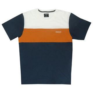 Camiseta Especial Hurley DF Blocked Top Azul e Laranja