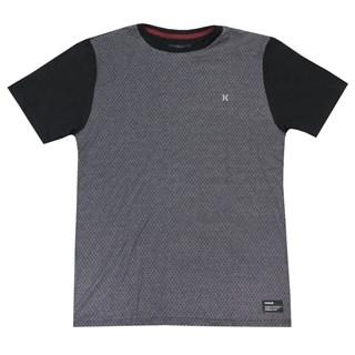 Camiseta Especial Hurley Trama Cinza e Preta