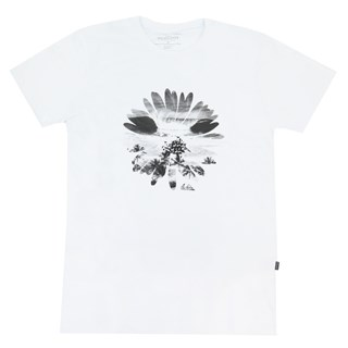 Camiseta Especial Quiksilver Flowers In The Dirt Branca