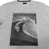 Camiseta Especial Quiksilver Hey Cinza