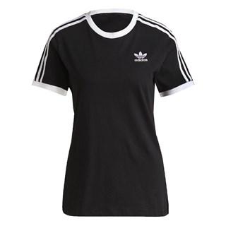 Camiseta Feminina Adidas Adicolor Classics 3 Stripes Preta e Branca