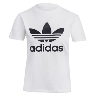 Camiseta Feminina Adidas Adicolor Classics Trefoil Branca