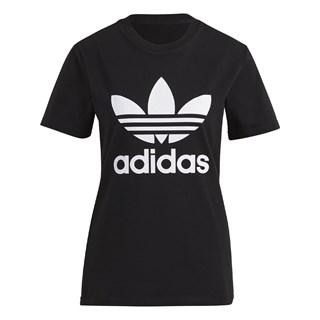 Camiseta Feminina Adidas Adicolor Classics Trefoil Preta