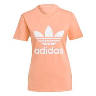 Camiseta Feminina Adidas Adicolor Classics Trefoil Salmão