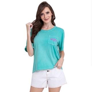 Camiseta Feminina Billabong Beach Comber Verde Claro