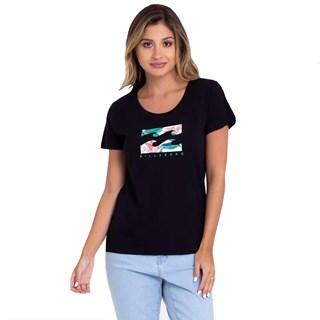 Camiseta Feminina Billabong Forward Feelings Preta