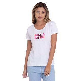 Camiseta Feminina Billabong Sol Stripes Branca