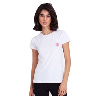 Camiseta Feminina Element Minimal Logo Branca