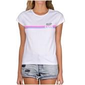 Camiseta Feminina Rip Curl Glory Stripe Branca