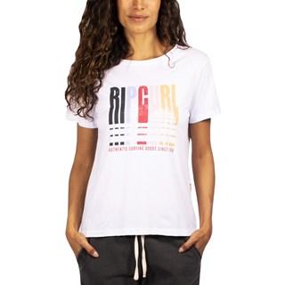 Camiseta Feminina Rip Curl Goldn State Tee Branca