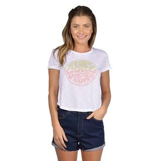 Camiseta Feminina Rip Curl Round Logo Branca