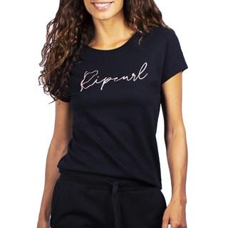 Camiseta Feminina Rip Curl Tallows Basic Preta