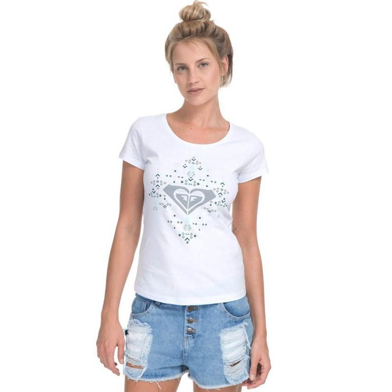 0de252572e Camiseta Feminina Roxy Amulet Branca - BackWash