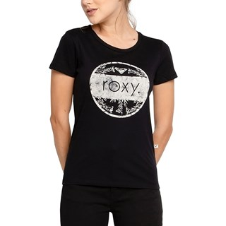 Camiseta Feminina Roxy Flowers Preta
