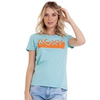Camiseta Feminina Roxy Go Club Verde Àgua