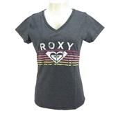 Camiseta Feminina Roxy Rainbow Candy Cinza