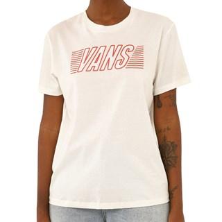 Camiseta Feminina Vans Sport Check Off White
