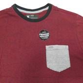 Camiseta Hurley Premium com Bolso Vermelha