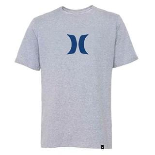 Camiseta Hurley Tamanho Especial Silk Logo Cinza